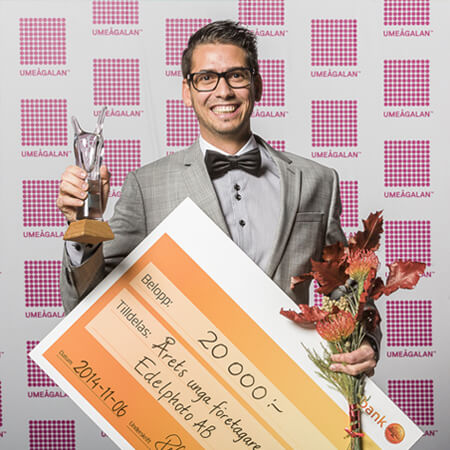 """""""Young entrepreneur of the year"""", Umeågalan 2014."""